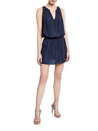 Ramy Brook Elda Smocked Waist Mini Dress