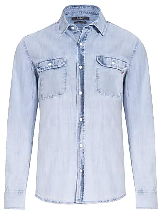 Replay CAMISA MASCULINA TOP TECIDO PLANO REP - AZUL