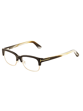 Tom Ford Acetate/Metal Brow-Line Optical Glasses