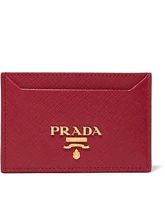 2e42b8d0660a56 ... closeout prada textured leather cardholder ae0d8 d6187 spain prada red  saffiano ...
