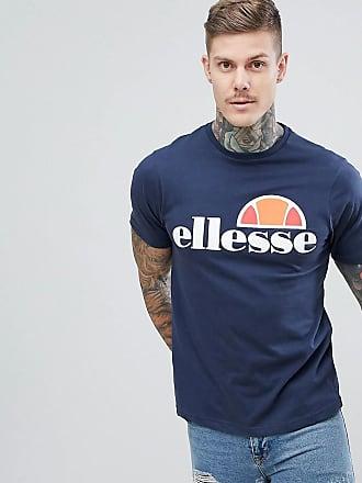 Ellesse Prado - T-Shirt in Marineblau mit großem Logo-Navy