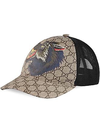 07505535db95 Gucci GG Supreme wolf baseball cap - Tons Neutres