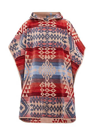 Pendleton Canyonlands Cotton Jacquard Poncho Towel - Mens - Red Multi