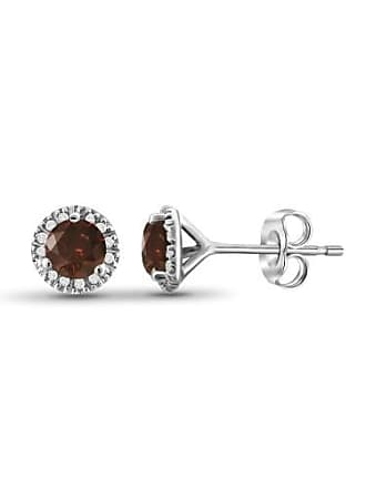 JewelersClub JewelersClub 1/2 Carat T.W. Red and White Diamond Sterling Silver Stud Earrings