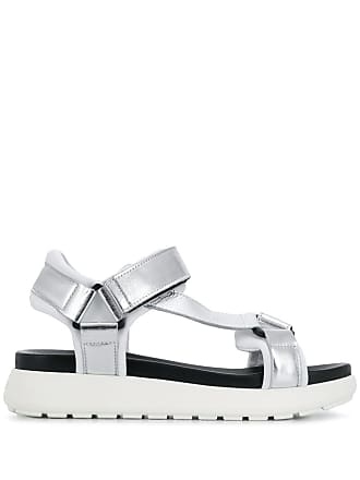 P.A.R.O.S.H. touch strap sandals - Silver