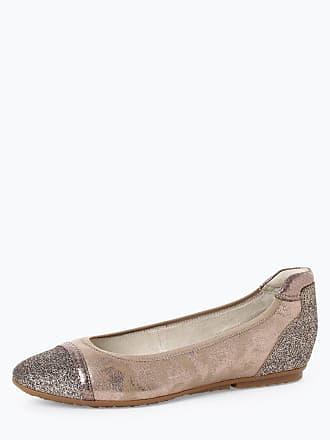 c8da325d1bdbee Tamaris Damen Ballerinas mit Leder-Anteil beige