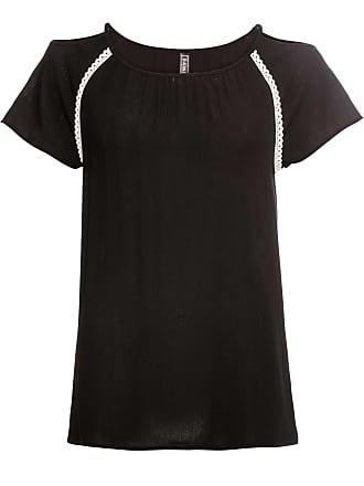 3a736158ce9f5f Bonprix Crinkle-Bluse mit Cut-Outs ohne Ärmel in schwarz von bonprix