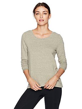 Danskin Womens Wide-Neck Hi Low Pullover, Olive Heather, XL