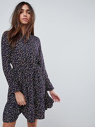 b876e62d7117da Yumi Long Sleeve Tea Dress in Ditsy Floral