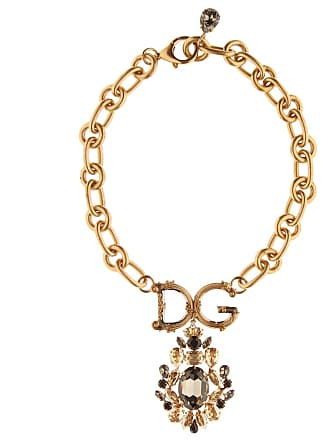 Dolce & Gabbana Crystal-embellished chain necklace