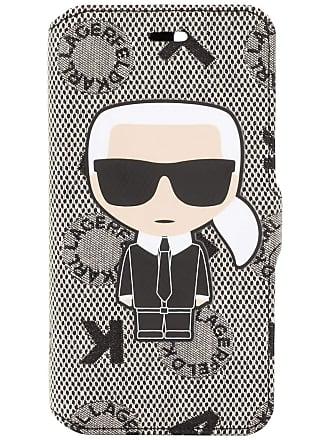 Karl Lagerfeld Capa para Iphone 7 Jacquard Booktype Ikonik - Preto