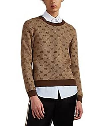 c868a1b27db Gucci Mens GG-Jacquard Wool-Cotton Sweater - Beige, Tan Size M