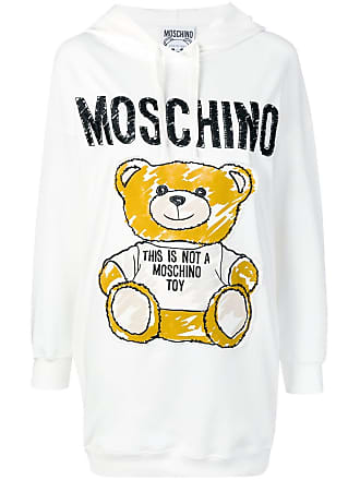 Moschino Sketch Bear hoodie dress - White