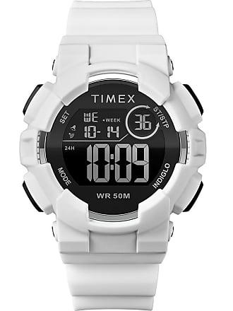Timex Watch Unisex Mako Dgtl 44MM Silicone Strap Digital White/digital Item Tw5M23700Jt
