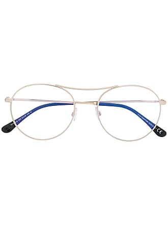 Tom Ford Eyewear thin round frame glasses - Gold