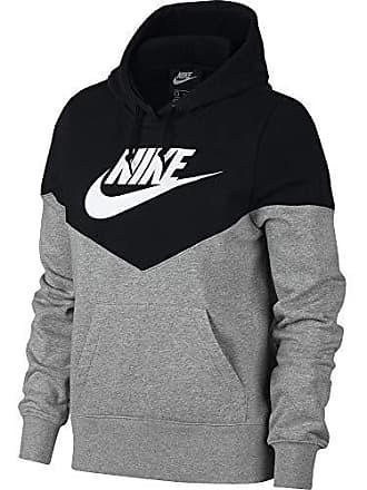 cheaper edfb7 fdf4f Nike Sporstwear Heritage Felpa, Grigio (Dark Grey Heather Black White 063)