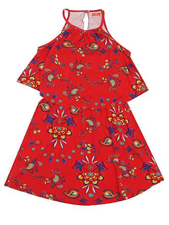 Bisi Vestido Bisi Estampado Vermelho