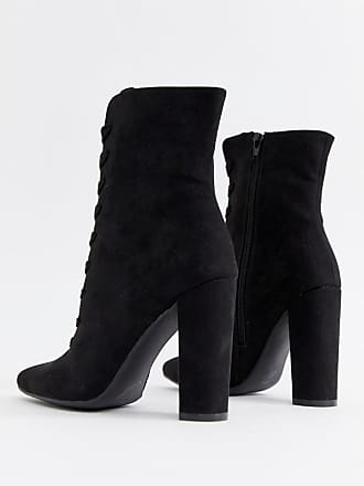 459e5bb5ff9 Asos Elicia lace up heeled boots - Black