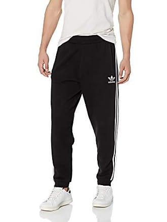 adidas Originals Mens 3-Stripes Pants, Black, XS