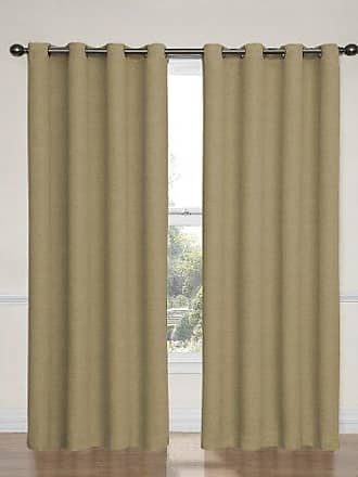 Eclipse Blackout Curtains for Bedroom-Bobbi37 x 95 Insulated Darkening Single Panel Grommet Top Window Treatment Living Room, 37 x 95, Tan