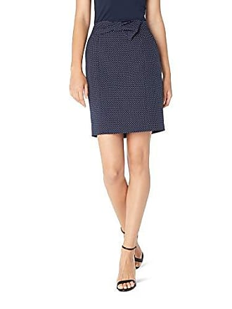 b6f24e9dde6c Anne Klein Womens Bow Front Pencil Skirt, Eclipse/White, 6