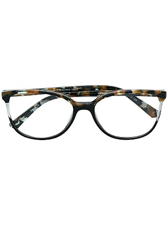 Etnia Barcelona Armação de óculos tartaruga arredondado - Preto
