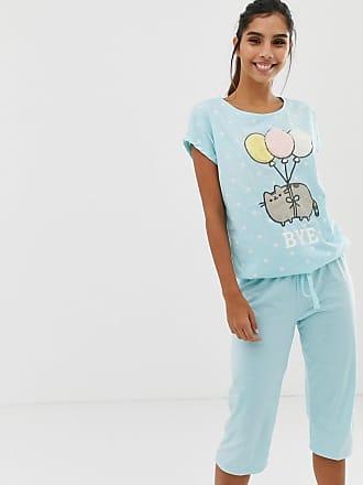 acf064e77e9 Women secret Pusheen Cat Bye short sleeve pyjama set in multi