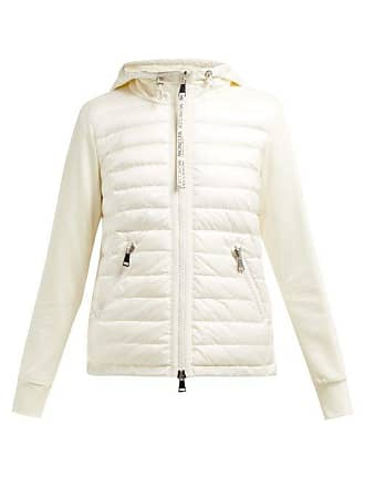 Moncler Quilted Down And Cotton Jersey Jacket - Womens - Cream
