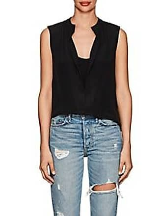 0d0a1cf726252 Derek Lam Womens Kara Silk Sleeveless Blouse - Black Size 44 IT