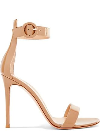 Gianvito Rossi Portofino 105 Patent-leather Sandals - Neutral