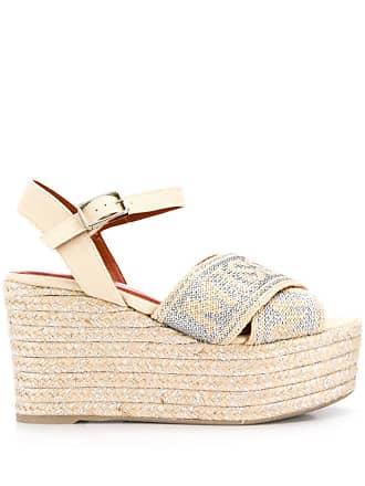 Missoni wedged espadrille sandals - Neutrals