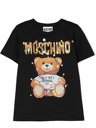 Moschino Printed Stretch-cotton Jersey T-shirt - Black