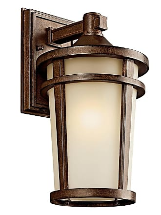 Kichler 49072BSTFL Outdoor Wall 1Lt Fluorescent in Brown Stone. ENERGY STAR qualified light fixture