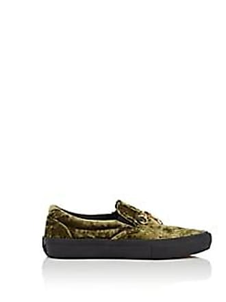 a8a6c6217e50 Vans Womens Crushed Velvet Slip-On Sneakers - Green Size 10.5