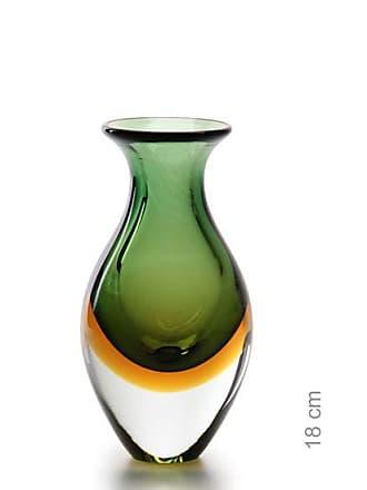 Cristais cá d'Oro Vasinho 2 Bicolor Verde com Âmbar
