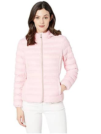 2e15235df56 Michael Kors Zip Front Packable with Removable Hood M823964M (Carnation) Womens  Coat