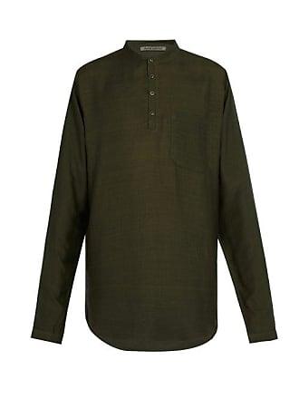 8d79fa48f0 Denis Colomb Raj Silk Tunic Shirt - Mens - Green