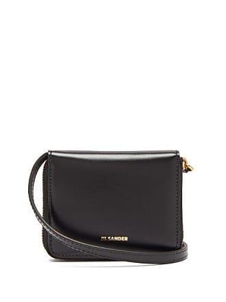 Jil Sander Leather Cross Body Wallet Bag - Womens - Black