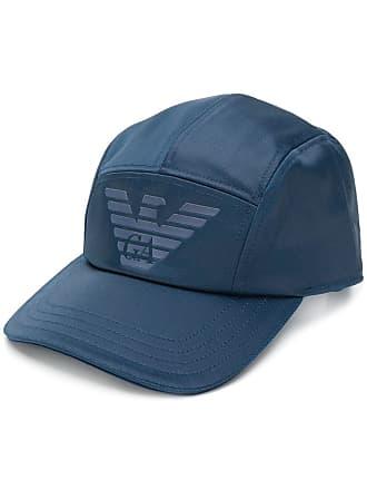 430ca4e051 Emporio Armani Cappello da baseball con design a pannelli con logo - Di  Colore Blu