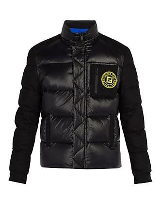 af47b39e93 Fendi Logo Patch Puffer Jacket - Mens - Black