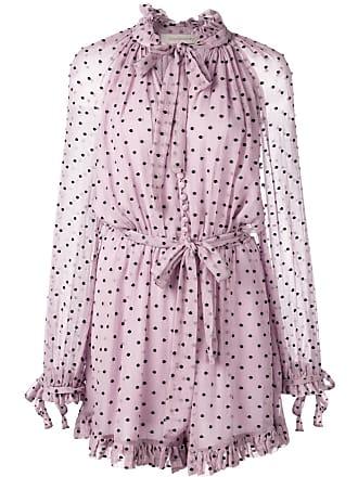 b53bec61bd Zimmermann polka dot print playsuit - Purple