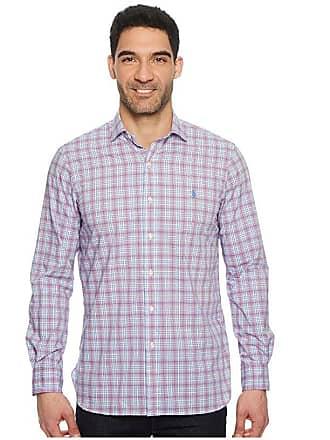 15a4dce4 Polo Ralph Lauren Poplin Long Sleeve Sport Shirt (Pearl/Ruby Multi) Mens  Clothing