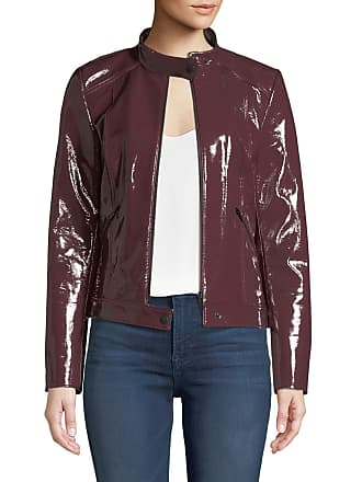 Neiman Marcus Patent Leather Moto Jacket