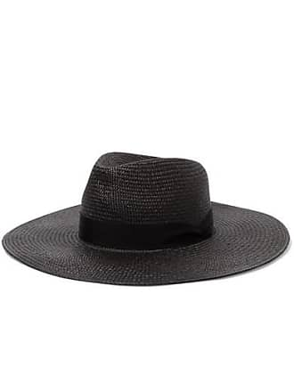Rag & Bone Grosgrain-trimmed Straw Panama Hat - Black
