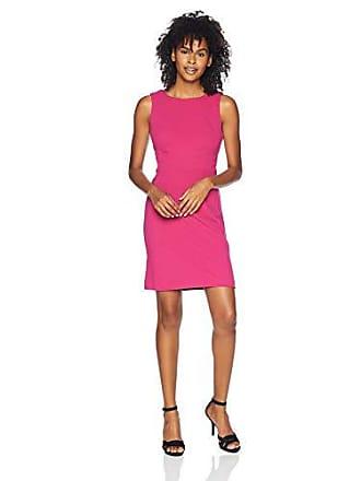 7d58cd93d6ce Betsey Johnson Juniors Scuba Crepe Dress with Cutout Back, Fuchsia, 12
