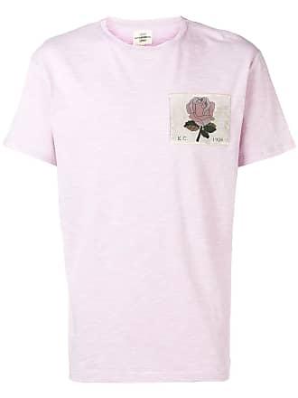 Kent & Curwen Camiseta com patch de rosa - Roxo