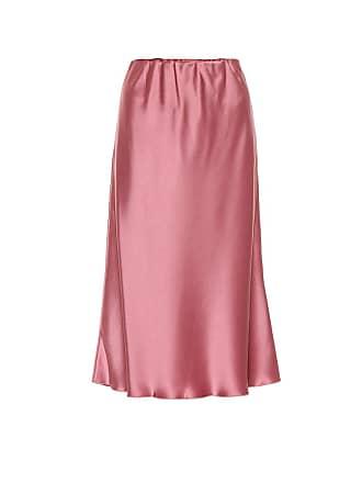 Nanushka Zarina satin midi skirt