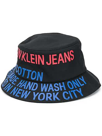 93aa32a3172 Calvin Klein logo bucket hat - Black