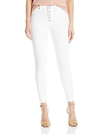 Hudson Womens Ciara High Rise Ankle Super Skinny Buttonfly 5-Pocket Jean, White, 27