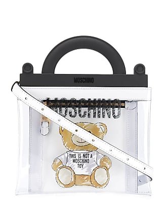 Moschino clear Teddy Bear tote - White